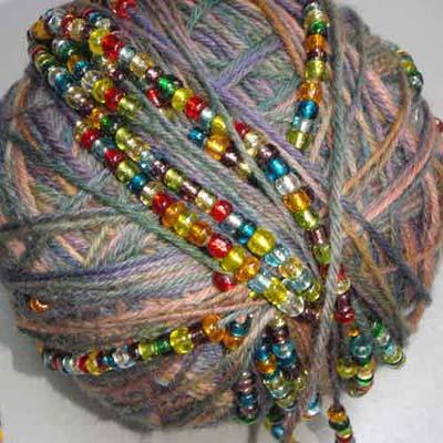 Yarn with beads Photo Credit: Holli Yeoh