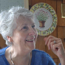 photo of member of West Coast Knitters' Guild