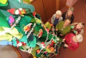 03/12/13 Nine-foot knitted Christmas tree in Fenstanton